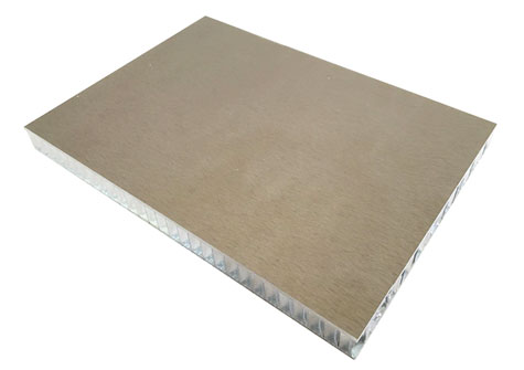 仿铜拉丝铝蜂窝板